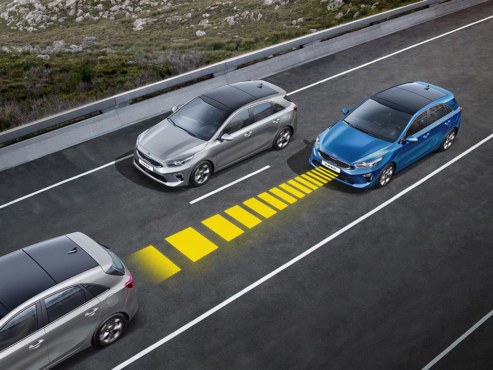 Smart cruise control  + Lane Following Assist